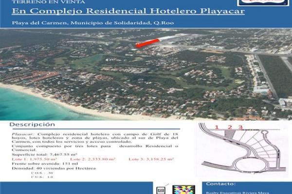Foto de terreno habitacional en venta en  , playa car fase ii, solidaridad, quintana roo, 2628586 No. 01