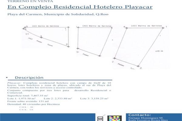 Foto de terreno habitacional en venta en  , playa car fase ii, solidaridad, quintana roo, 2628586 No. 02