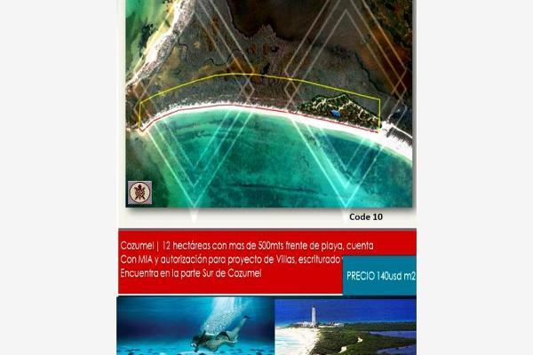 Foto de terreno habitacional en venta en playa , cozumel centro, cozumel, quintana roo, 8855602 No. 01