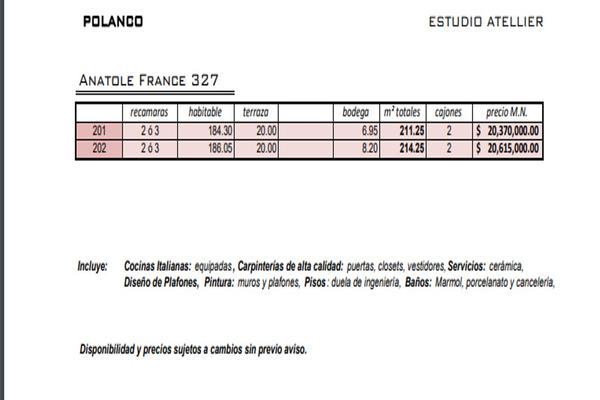 Foto de departamento en venta en polanco anatole france , polanco iv sección, miguel hidalgo, df / cdmx, 5642171 No. 04