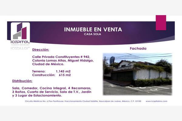 Foto de casa en venta en privada de constituyentes 942, lomas altas, miguel hidalgo, df / cdmx, 5922418 No. 01