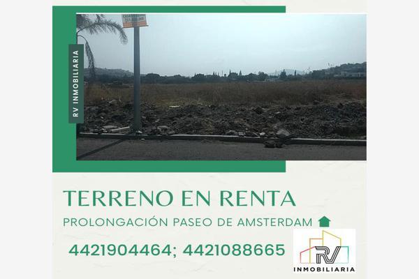 Foto de terreno industrial en renta en prolongación paseo de amsterdam , los olvera, corregidora, querétaro, 5626012 No. 01