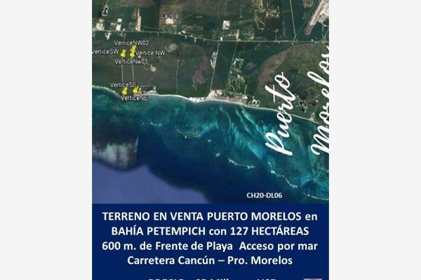 Foto de terreno comercial en venta en punta petempich , puerto morelos, benito juárez, quintana roo, 11436852 No. 01