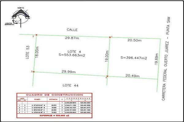 Foto de terreno habitacional en venta en  , punta sam, benito juárez, quintana roo, 15958429 No. 03