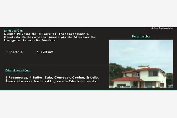 Foto de casa en venta en quinta privada de la torre 4, condado de sayavedra, atizapán de zaragoza, méxico, 7470465 No. 01