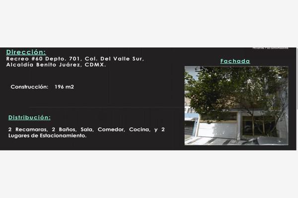 Foto de departamento en venta en recreo 60, del valle sur, benito juárez, df / cdmx, 7194266 No. 01