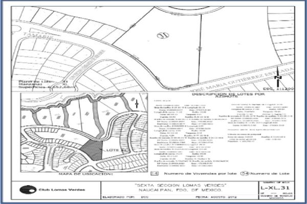 Foto de terreno habitacional en venta en residencial lomas verdes lote equipamiento , lomas verdes 6a sección, naucalpan de juárez, méxico, 3350897 No. 12