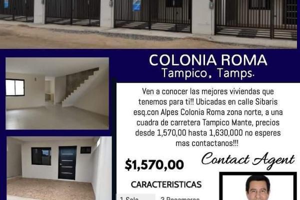 Foto de casa en venta en  , roma, tampico, tamaulipas, 13434434 No. 01