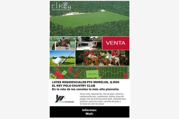 Foto de terreno habitacional en venta en ruta de los cenotes -, puerto morelos, puerto morelos, quintana roo, 8571869 No. 01