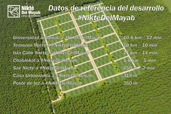 Foto de terreno habitacional en venta en  , sac-nicte, mérida, yucatán, 14028713 No. 06