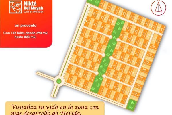 Foto de terreno habitacional en venta en  , sac-nicte, mérida, yucatán, 14028713 No. 14