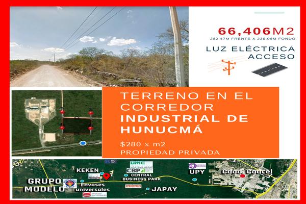 Foto de terreno industrial en venta en  , san antonio chel, hunucmá, yucatán, 20944984 No. 01