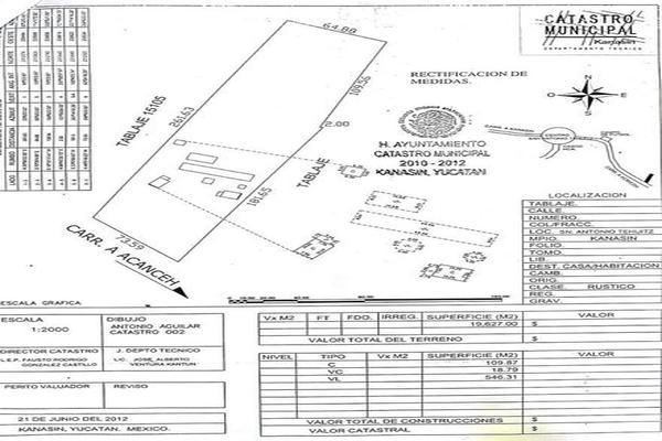 Foto de terreno habitacional en venta en  , san antonio tehuitz, kanasín, yucatán, 7923032 No. 05