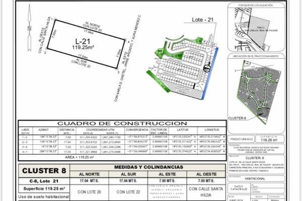 Foto de terreno habitacional en venta en san carlos real de palmas , real de san jorge, centro, tabasco, 8863087 No. 01