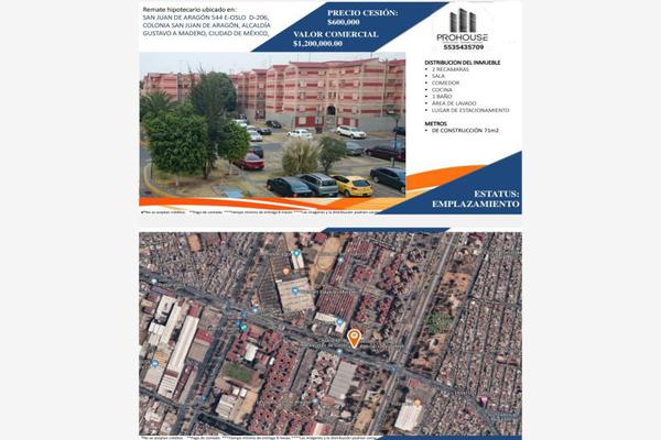 Foto de departamento en venta en san juan de aragon 544, ampliación san juan de aragón, gustavo a. madero, df / cdmx, 16394697 No. 01