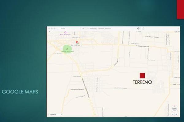Foto de terreno habitacional en venta en  , san miguel totocuitlapilco, metepec, méxico, 7913206 No. 03