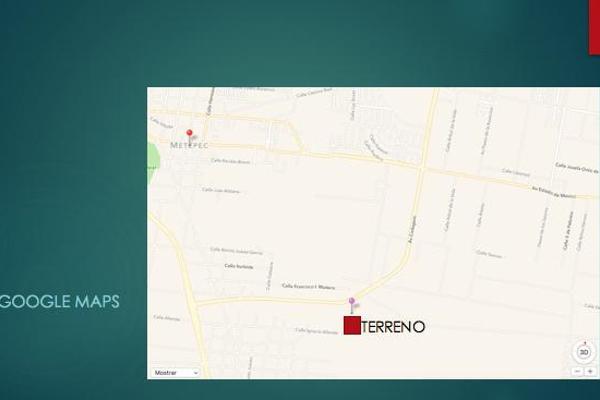 Foto de terreno habitacional en venta en  , san miguel totocuitlapilco, metepec, méxico, 7913346 No. 03