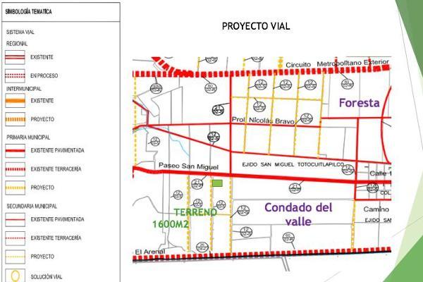 Foto de terreno habitacional en venta en  , san miguel totocuitlapilco, metepec, méxico, 7913645 No. 04