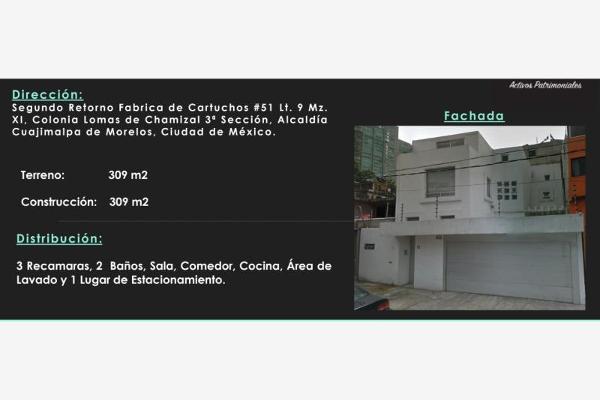 Foto de departamento en venta en segundo retorno fabrica de cartuchos 51, lomas del chamizal, cuajimalpa de morelos, distrito federal, 0 No. 01