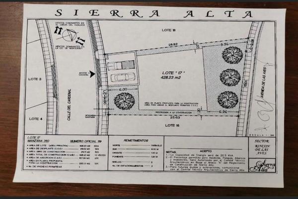 Foto de terreno habitacional en venta en sierra alta , sierra alta 3er sector, monterrey, nuevo león, 17977337 No. 01