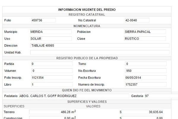 Foto de terreno habitacional en venta en  , sierra papacal, mérida, yucatán, 14028199 No. 07