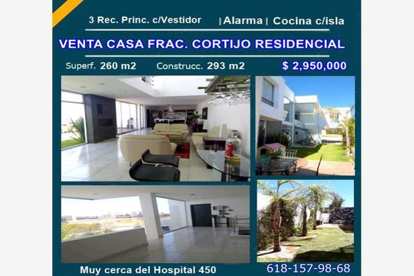 Foto de casa en venta en sn , cortijo residencial, durango, durango, 10085940 No. 01