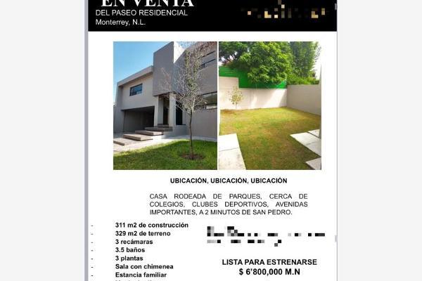 Foto de casa en venta en s/n , del paseo residencial, monterrey, nuevo león, 9991111 No. 02