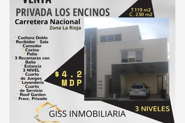 Foto de casa en venta en s/n , hacienda los encinos, monterrey, nuevo león, 9956713 No. 01