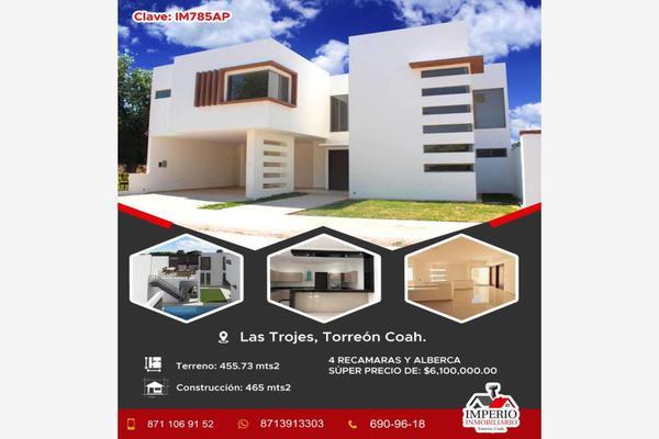 Foto de casa en venta en s/n , las trojes, torreón, coahuila de zaragoza, 8804132 No. 01