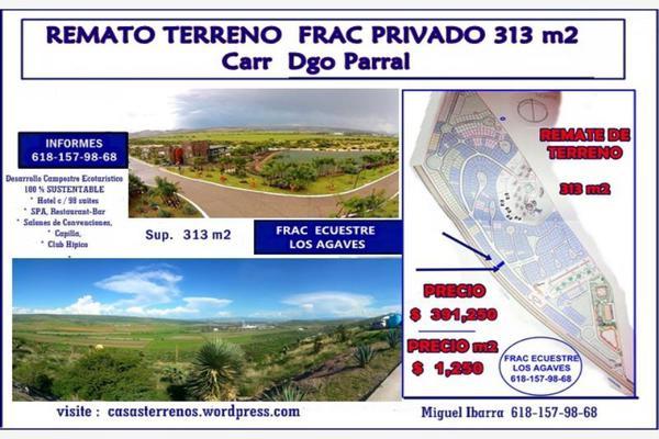 Foto de terreno habitacional en venta en sn , los agaves, durango, durango, 5625811 No. 01