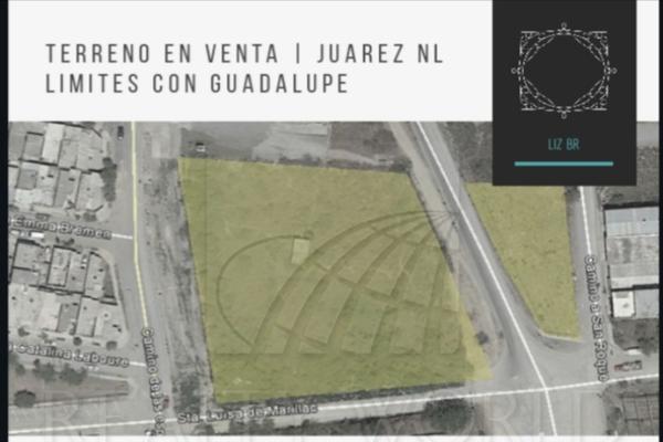 Foto de terreno habitacional en venta en s/n , rancho viejo, juárez, nuevo león, 20585531 No. 01