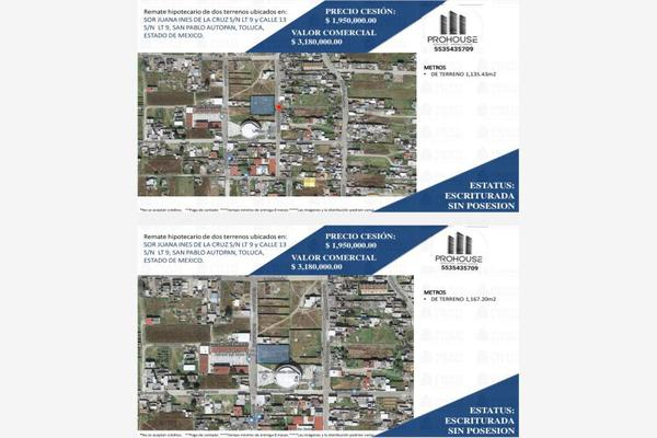 Foto de terreno habitacional en venta en sor juana ines 0, san pablo autopan, toluca, méxico, 16856566 No. 01