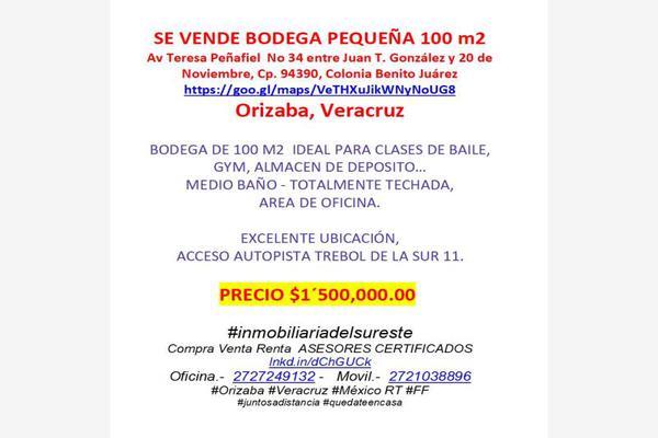 Foto de bodega en venta en teresa peñafiel 34, francisco ferrer guardia, orizaba, veracruz de ignacio de la llave, 0 No. 02