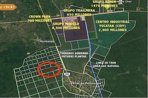Foto de terreno industrial en venta en  , texan palomeque, hunucmá, yucatán, 15316284 No. 01