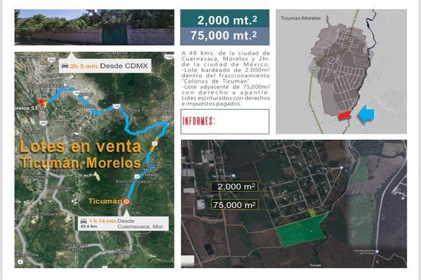 Foto de terreno habitacional en venta en  , pedregal, tlaltizapán de zapata, morelos, 7495938 No. 01