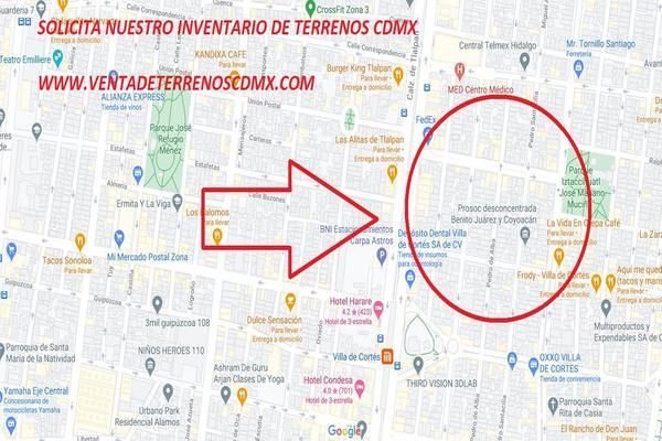 Foto de terreno habitacional en venta en tlalpan 30, iztaccihuatl, benito juárez, df / cdmx, 0 No. 01