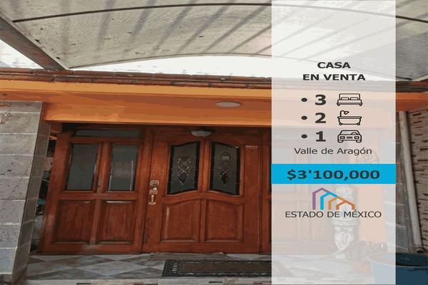 Foto de casa en venta en valle de topajoz 303, valle de aragón 3ra sección oriente, ecatepec de morelos, méxico, 0 No. 01