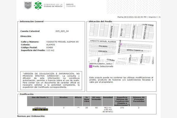 Foto de terreno comercial en venta en viaducto miguel aleman 65, atenor salas, benito juárez, df / cdmx, 20126699 No. 05