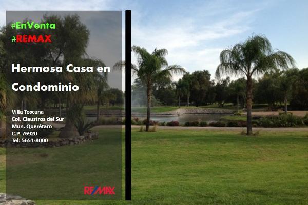 Foto de casa en condominio en venta en balvanera villa toscana , balvanera polo y country club, corregidora, querétaro, 3500161 No. 01