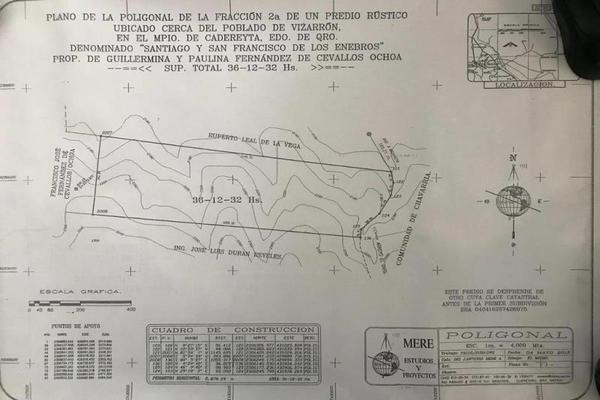 Foto de terreno comercial en venta en vizarrón , vizarrón de montes, cadereyta de montes, querétaro, 20544864 No. 09