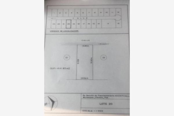 Foto de terreno habitacional en venta en xochicalli 36, santiago momoxpan, san pedro cholula, puebla, 7471168 No. 03