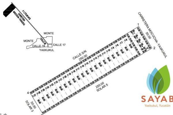 Foto de terreno habitacional en venta en  , yaxkukul, yaxkukul, yucatán, 8100050 No. 04