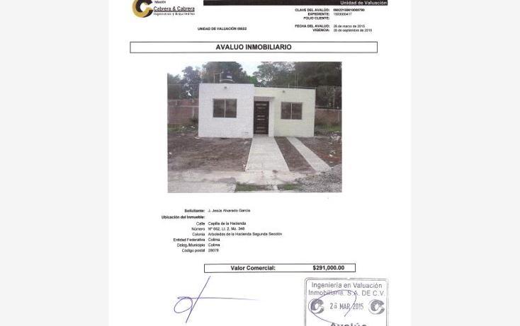 Foto de casa en venta en  0, arboledas de la hacienda, colima, colima, 1820706 No. 01