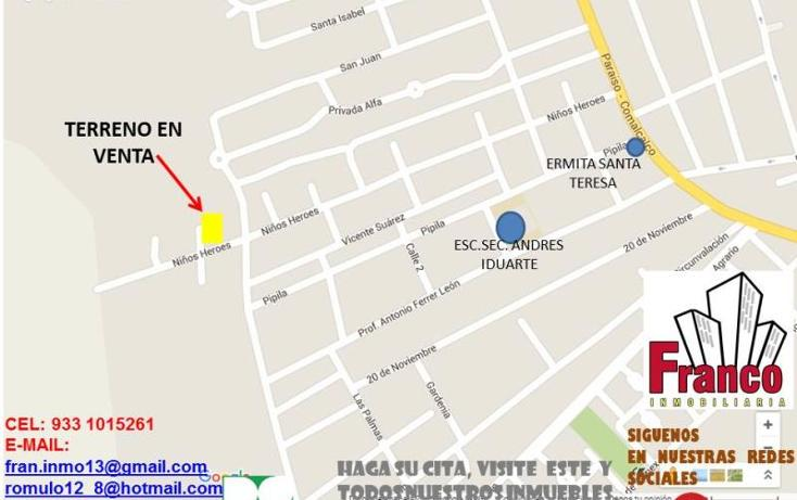 Foto de terreno habitacional en venta en  0, morelos, comalcalco, tabasco, 1945432 No. 02