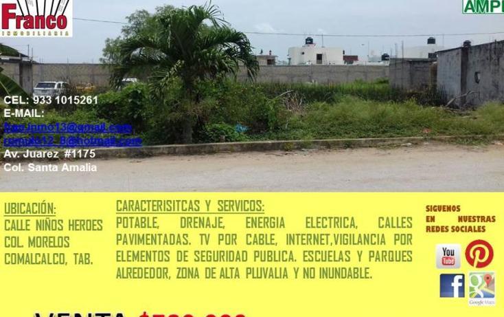 Foto de terreno habitacional en venta en  0, morelos, comalcalco, tabasco, 1945432 No. 04