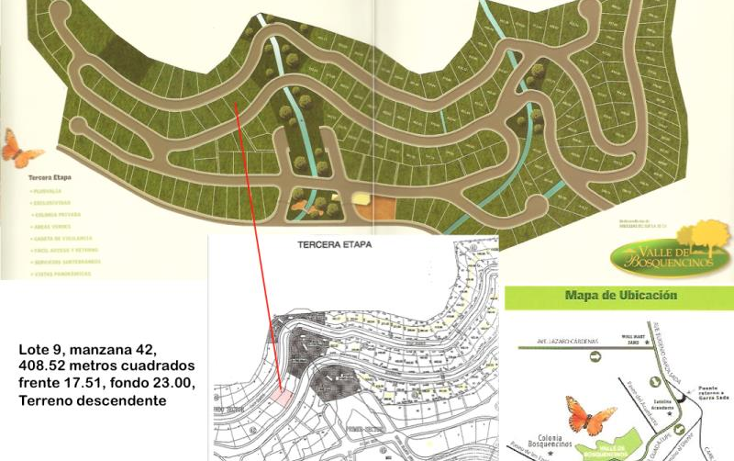 Foto de terreno habitacional en venta en  00, valle de bosquencinos 1era. etapa, monterrey, nuevo le?n, 610777 No. 01