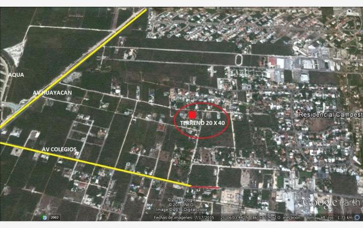 Foto de terreno habitacional en venta en  02, colegios, benito juárez, quintana roo, 1746103 No. 06