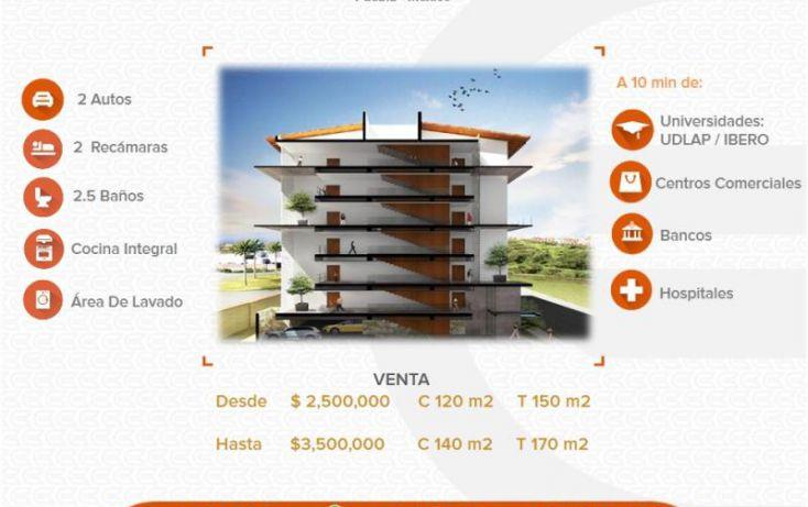 Foto de departamento en venta en 1 1, alta vista, san andrés cholula, puebla, 1436949 no 01