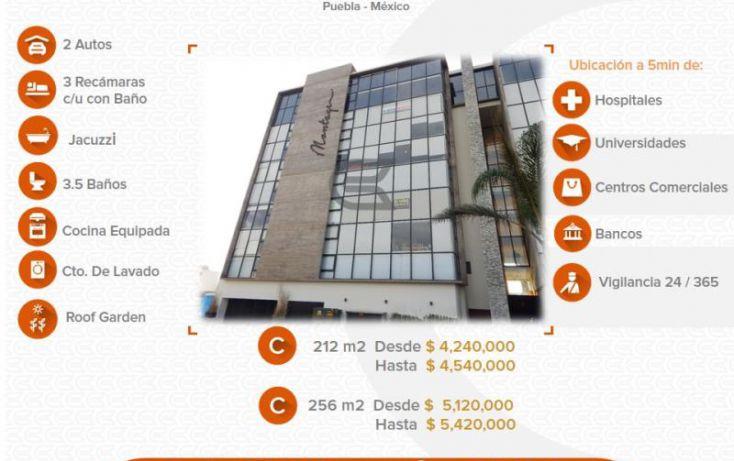 Foto de departamento en venta en 1 1, alta vista, san andrés cholula, puebla, 1612800 no 01