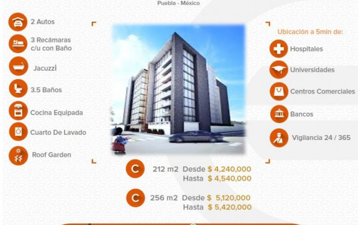 Foto de departamento en venta en 1 1, alta vista, san andrés cholula, puebla, 1612822 no 01